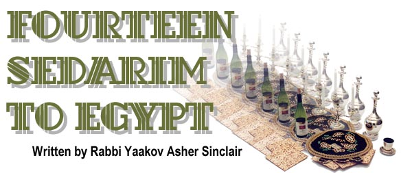 14 Sedarim to Egypt by Rabbi Yaakov Asher Sinclair